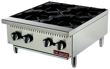 24'' FOUR BURNER COMMERCIAL HOTPLATE - NAT NATURAL by FRIDGCON