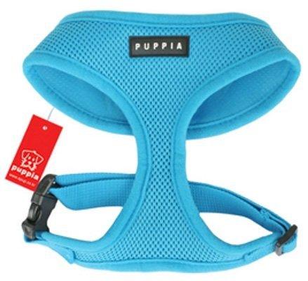 Puppia Soft Dog Harness (Mesh) Aqua Blue Medium