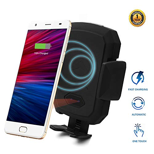Wireless Car Charger Mount with Infrared Sensor Automatic Clamping Phone Holder Air Vent Mount