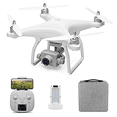 GoolRC WLtoys XK X1 GPS Drone with Camera 1080P HD WiFi Live Video, 5G WiFi FPV Brushless Motor RC Drone, Auto Return Home, Altitude Hold, Follow Me RC Quadcopter with 1 Batteries and Carrying Bag