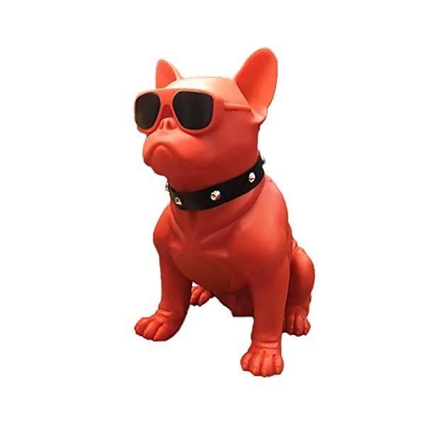 Bluetooth Speakers French Bulldog Art Bluetooth Speakers Portable Bluetooth Speakers Suitable For Mobile Phones Laptop Tablets Tv Bluetooth Speakers Large Red 12991318736in