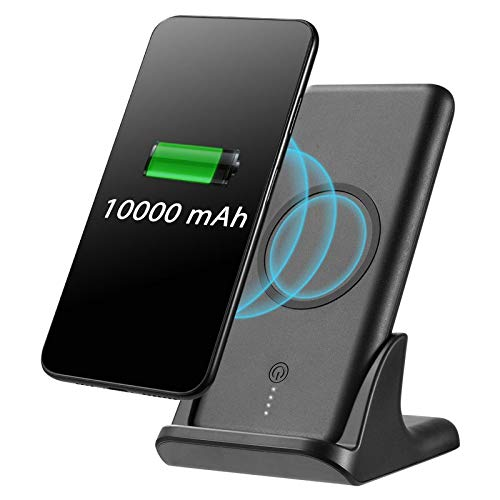 Insten Universal 10000 mAh Wireless Charge Powerbank with Charging Cradle, Black