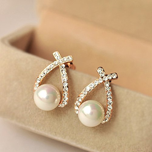 Sunshiny New Style Women Ladies Elegant Crystal Rhinestone Studs Earrings Ear Stud