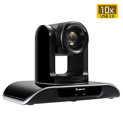 Tenveo Video Conference Camera 10X Optical Zoom Full HD 1080p USB PTZ Camera for Business Meetings