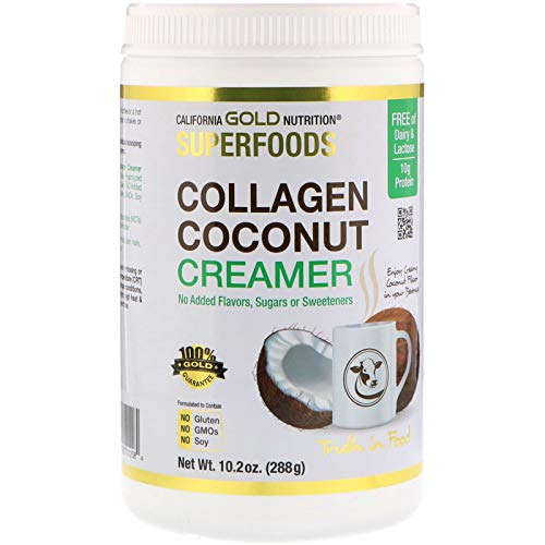 California Gold Nutrition Superfoods Collagen Coconut Creamer Powder Unsweetened 10 2 oz 288 g
