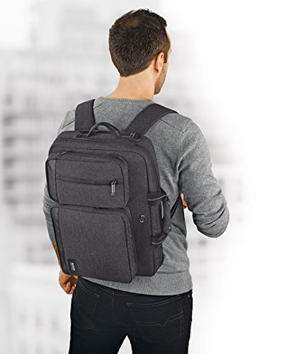 Solo Duane 15.6 Inch Laptop Hybrid Briefcase, Converts to Backpack, Grey by SOLO (Image #4)