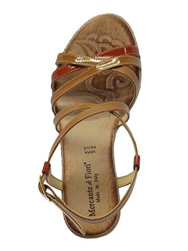 Mercante di Fiori Omk 45727 Vernice Caramel Multi - Sandalias de vestir de Material Sintético para mujer Caramel multi