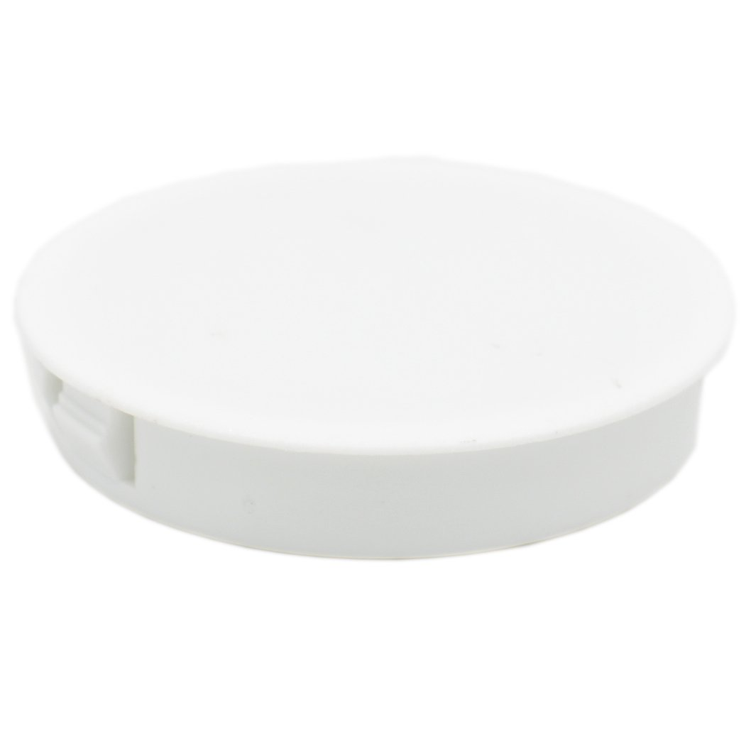 Baomain Plastic Locking Hole Plugs Panel Hole Diameter 2' (50mm) White 25 Pack Baomain Electric Co. Ltd