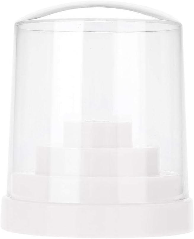 48 Hoyos Titular de Taladro de Clavo, Plástica brocas de almacenamiento caja para molienda jefes, exhibición de la máquina, esmalte de uñas(White)