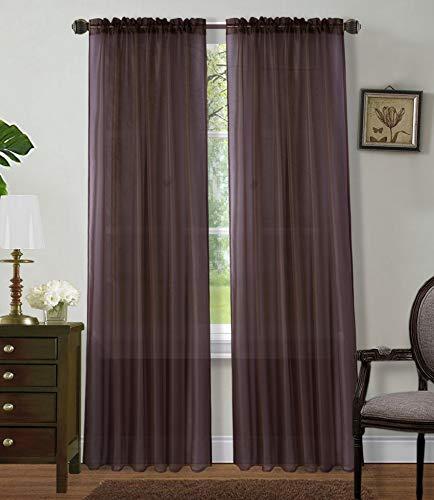 2 Panels Window Sheer Curtains 54