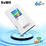 KuWFi Travel Routers 4G LTE WiFi Router 5200 Mah Power Bank Support Charger
