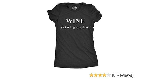 Ladies Rhinestone V Neck Funny Wine T Shirt Live Laugh Wine A Lot Small to 3XL