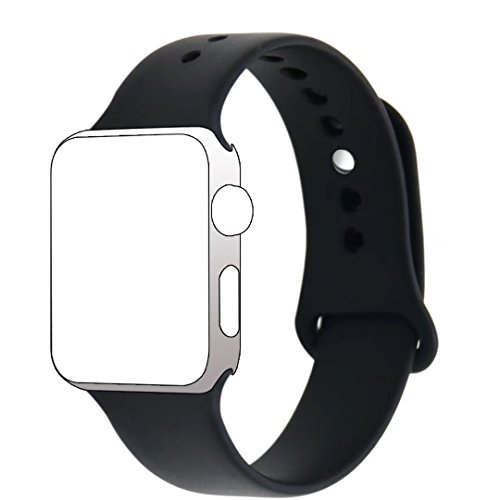Hailan Band for Apple Watch Series 1 Series 2,New Design (Metal Tuck Clasp Outside) Soft Durable Sport Silicone Replacement Wrist Strap for iWatch,38mm / 42mm