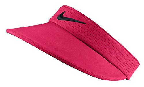 - Nike Aerobill Tour Big Bill Wide Brim Adjustable Visor, Women's, Rush Pink