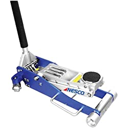Nesco Tools 2203 Aluminum Low Profile Floor Jack - 3 Ton Capacity