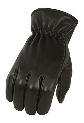 Milwaukee - Guantes de piel de ciervo para hombre con forro de invierno (negro, talla XS)