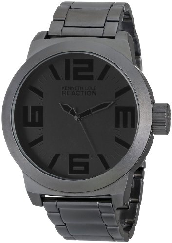 Kenneth Cole REACTION Men's RK3210 Classic Oversized Gunmetal-Tone Watch