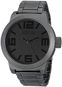 Kenneth Cole REACTION Men's RK3210 Classic Oversized Gunmetal-Tone Watch