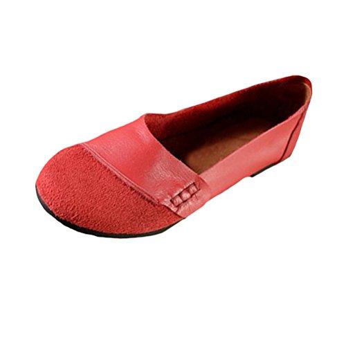 Stile 3 Rosso Scarpe Donna Vogstyle Basse Casuale Stringate SU1nXYwq