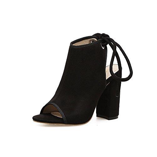 elegante di primavera pesce ed di donna spessore estate con bocca scarpe La e nero nuova tracolla scarpe tacchi 39 ZHZNVX alti aria trasversale qOCawEn6