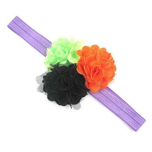 Willsa Baby Girls Halloween Headband Bow Elastic Hair Head Hairband Phtography Props -