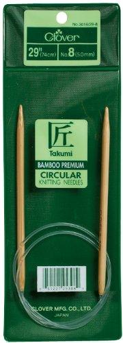 Clover Takumi Bamboo Circular 29-Inch Knitting Needles, Size 9