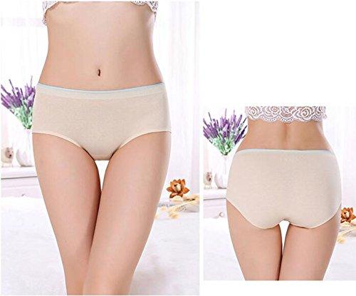 POKWAI 3 Bolsas De La Ropa Interior De Algodón De Las Mujeres De La Cintura Respirable Atractivo Rastro De Pantalones Casual Triángulo Del Algodón Modal Ocio A7