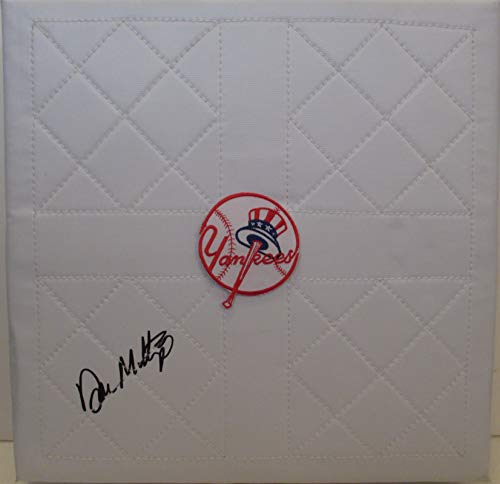 New York Yankees Don Mattingly Autographed Hand Signed NY Yankees Full Size Baseball Base with Proof Photo of Signing and COA