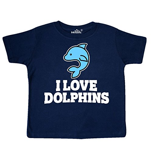 Toddler Dolphins T-shirt (inktastic - I Love Dolphins Toddler T-Shirt 3T Navy Blue 3120c)