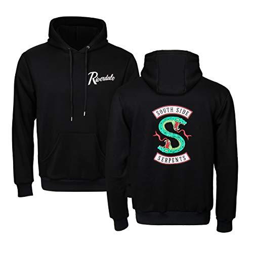 COSFLY Adult Men Serpents Jumper Hoodie Long Sleeve Southside Pullover Sweatshirt Costume (100% Cotton,Normal Size!) (Large) Black -