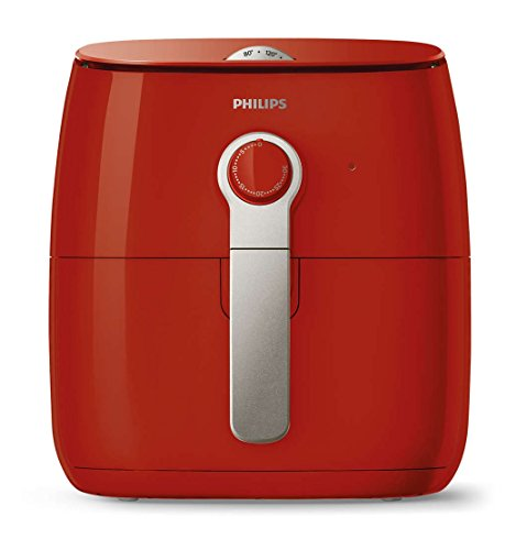 Philips Viva 2 1425W Turbostar Multi-Cooker Airfryer - Red HD9621/36 (Renewed)