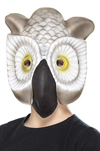 Smiffys Owl Mask, Grey/White, One Size -