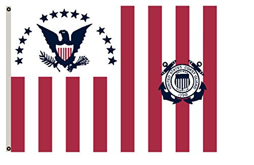 Fyon United States Historical banner Former federal flags Ensign of the Coast Guard (1915-1953) flag (1953 Flags)