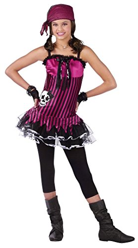 Rockin Skull Pirate Costume - LARGE (Holloween Pirate Costumes)