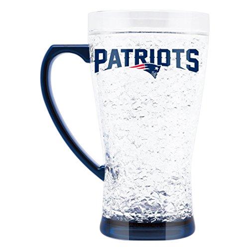NFL New England Patriots 16oz Crystal Freezer Flared Mug