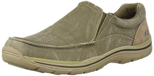 Skechers Men's Expected Avillo Relaxed-Fit Slip-On Loafer,Khaki,10.5 D US (List Price Venture)
