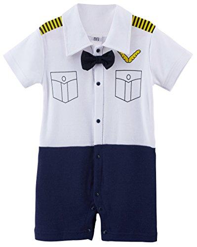Arloesi Baby Boys' Pilot Costume Romper (6-9 Months)
