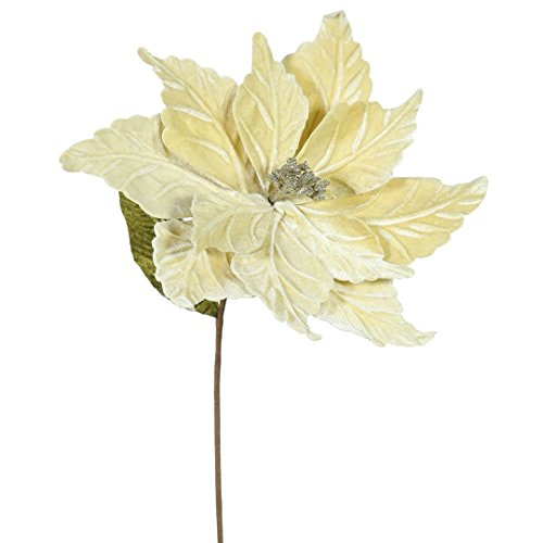 Christmas Poinsettias - Vickerman QG162738 Poinsettia with 12