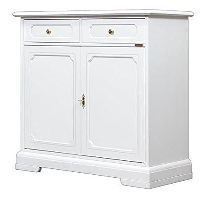 Credenza bianca classica per cucina, Mobile in stile ...