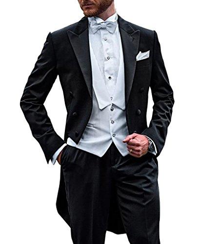 Suit Me long Hommes costume pantalon veste 3 diviseurs gilet de soir¨¦e de mariage de mariage Costumes Smokings AH-10