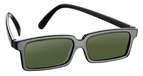 Rear View Spy Sunglasses Look Like Ordinary Sunglasses but Have a Mirror on Side Ends to See Behind You - Real Spy Stuff Gear Kit Gadget Equipment Goggles for Spying - Hut Sunglass Mens Prada