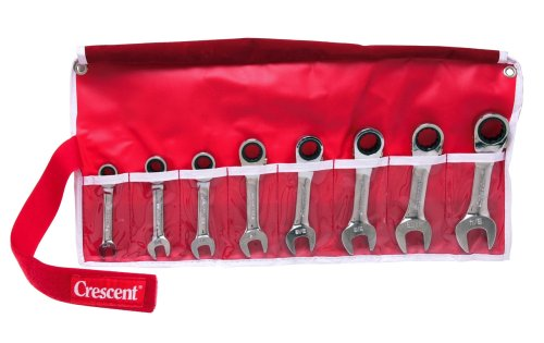(Crescent SFRR8SET 8-Piece Stubby Rapid Reverse Ratcheting Wrench Set SAE)