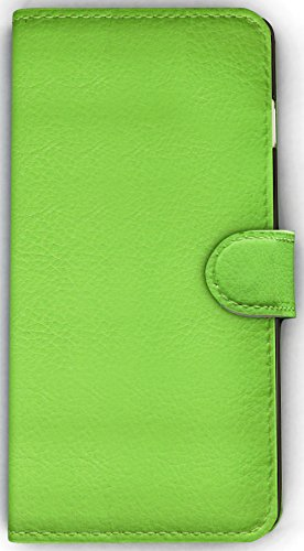 Iphone 5, 5C, 5S & SE Full-Body Premium PU Flip Cover Case for Apple Iphone 5, Folio Leather Flip Wallet Case with Foldable Kickstand Stand By Foxx Electronics (Green)