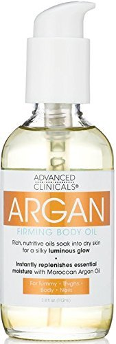 ADVANCED CLINICALS Argan Firming Body Oil for Tummy, Thighs,