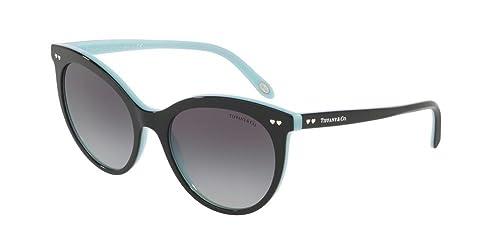 Tiffany 0TY4141 80553C, Gafas de Sol para Mujer, Negro (Black/Blue/Greygradient), 55