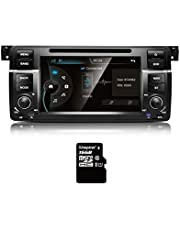 Amaseaudio, Wince 7 Inch Car Stereo, 1 Din, Compatiable for BMW E46 M3(1998-2005), TFT Touchscreen, in Dash DVD Player, GPS Navi, Head Unit with Car Stereo Bluetooth