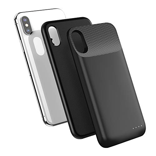 UGREEN Battery Case Qi Wireless Charger Compatible for iPhone X XS, 3600 mAh Portable Protective Charging Power Case Rechargeable Backup Power Bank Cover Black
