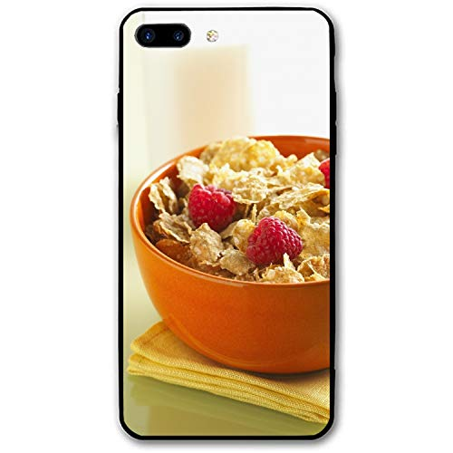 iPhone 8 Plus Case Women Slim Easy Breakfast Dessert Cereal Food Printed Rubber Shockproof Bumper Protective Anti-Scratch Cover ()