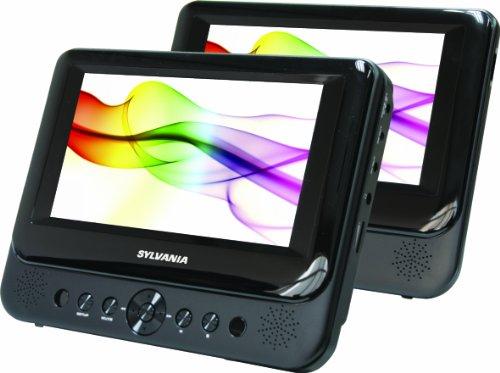 Sylvania SDVD8738 7 Inch Dual Screen Portable DVD Player