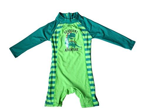 Bonverano(TM) Infant Boy's UPF 50+ Sun Protection L/S One Piece Zip Sun Suit (6-9 months)